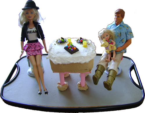Valentine Barbie Cake