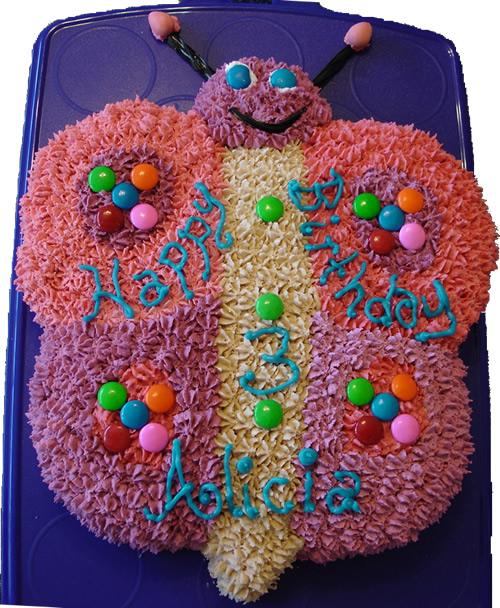 Fun cake decorating ideas animal cakes butterfly cake for Animal cake decoration ideas