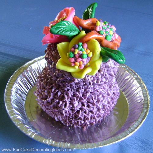 Fun Cake Decorating Ideas Birthday Cakes Flower Vase
